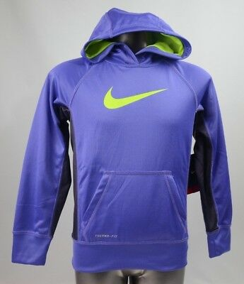 Nike KO 2.0 Hoodie Purple Youth Size Small New with Tags 546099 553
