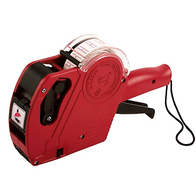 8 Digits Price Tag Gun Labeler Includeds Labels & Ink Refill Retail For Shop Red
