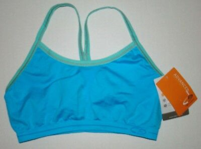 Girl's CHAMPION Sports TRAINING Bra L LARGE DANCE CHEER SOCCER BLUE DUO DRY