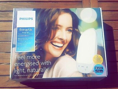 Philips Energyup Light White New Luminotherapie Hf3419-01 Lampe Neuf