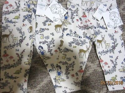 Nwt Baby Gap Snow White Collection Leggings 3 6 Or 6 12 New Htf