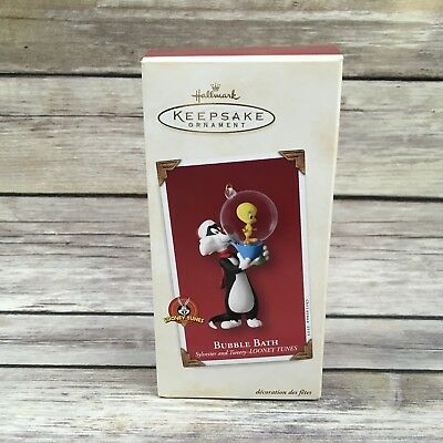 2003 Hallmark Looney Tunes Tweety Sylvester Bubble Bath Christmas Ornament