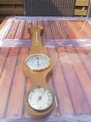 Barometer Thermometer Holz- Wetterstation