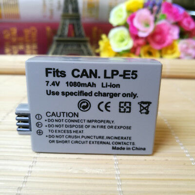 LP-E5 LPE5 Battery Pack For Canon Rebel T1i XS XSi 450D Kiss X3 X2