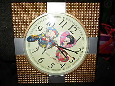 Gold and Silver Betty Boop Motorcycle Babe Quartz Clock KE FEI As shown