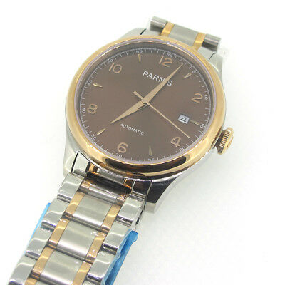 9ec154490 38mm Parnis Coffee Dial Sapphire Crystal Miyota Automatic Movement Men's  Watch
