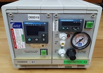 GE Wave Biotech CO2MIX20 CO2 Flow Controller Lab Control Unit With Gauge