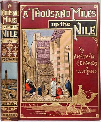 Rare! 1890 A Thousand Miles Up The Nile Exploration Ancient Egypt Ruins Pyramids