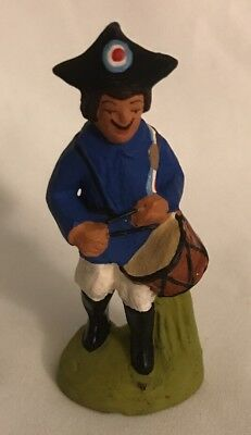 "VTG FRENCH DRUMMER FIGURE BY PAUL FOUQUE, SANTONNIER AIX-EN-PROVENCE 2 3/4"" tall"