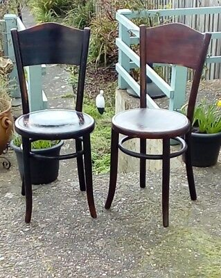 pair of antique fischel bentwood bistro chairs 70 00 picclick uk