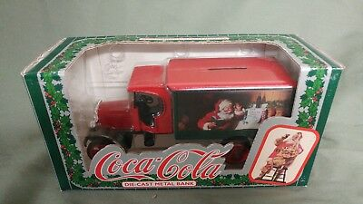 1993 ERTL COCA COLA Die Cast Metal Bank-1925 Kenworth Delivery Truck-Santa-#2003