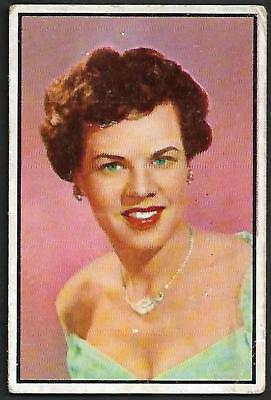 "1953 Bowman NBC TV & Radio Stars: #57 HELEN HALPIN, ""NBC COMEDY STAR"""