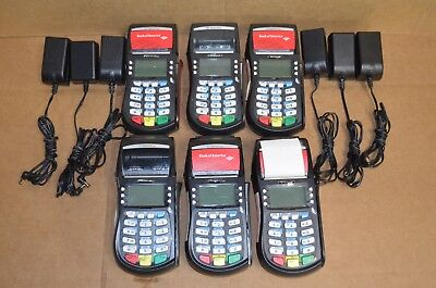 Lot of 6 Hypercom Optimum T4210 Credit Card Terminals **Read**
