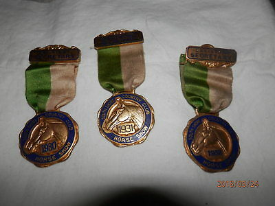 1930,1931,1932- Southshore Community Country Club  Horse Show Medals
