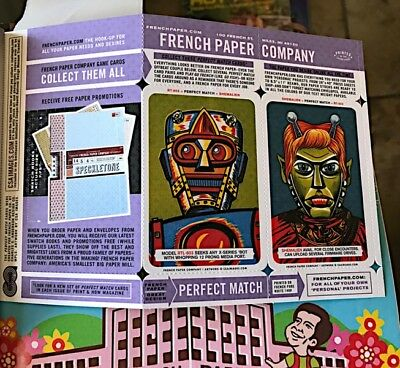 2 Vintage Original French Paper Company Match Card Advertisment Inserts 2006/07