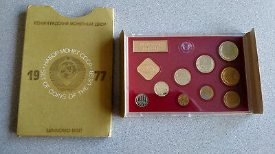 1977 Russia Ussr Cccp Soviet Union - Official Leningrad Mint Proof Like Set (9)