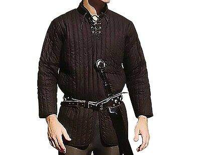 Black Gambeson Padded M L XL LARP Gear Renaissance Medieval Clothing SCA Theater