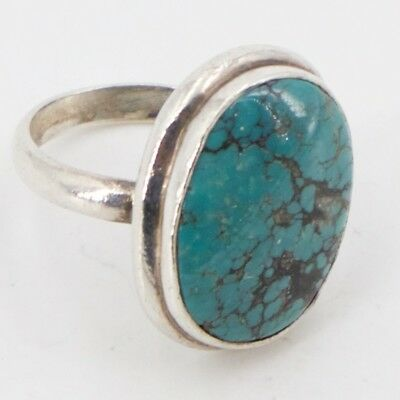 VTG Sterling Silver - Southwestern Signed NC Turquoise Ring Size 7 - 7g