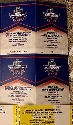 ncaa lacrosse DIV 2/3 then 1 championship tickets 2018 Gillette Stadium 5/27-28
