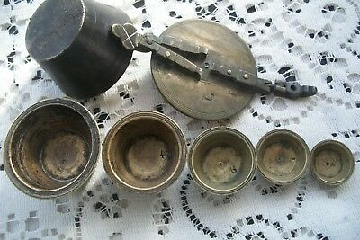 Antique Apothecary Nesting Weights Set Of 5 Solid Brass Bronze