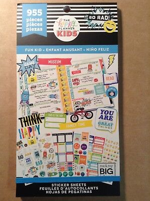 """NEW! me & my big ideas """"FUN KID"""" Value Pack Stickers - 955 Pieces"""