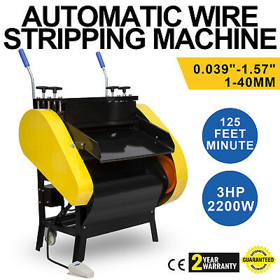 Automatic Wire Stripping Machine with Foot Pedal Copper 125ft/Minute Metal