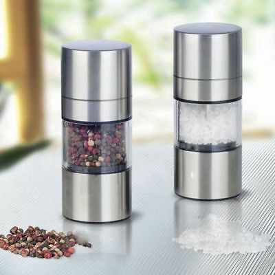 Stainless Steel Manual Pepper Salt Spice Mill 2 In 1 Grinder Kitchen Accessaries