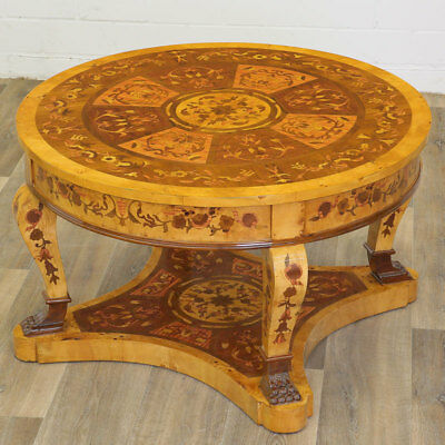LARGE ITALIAN FLORENCE Marquetry CENTER TABLE - DIAMETER 94cm, runder SALONTISCH