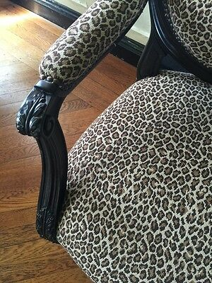 2 Leopard Print Designer Conversation Chairs - Immaculate from Lee Jofa Showroom