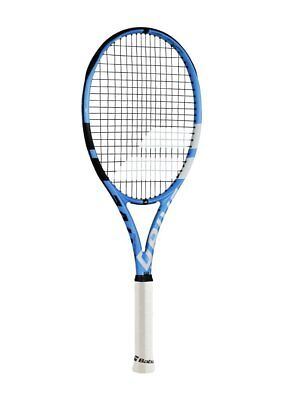 Babolat Pure Drive Lite Black/Blue/White Tennis Racquet Strung with Custom