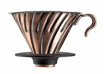 New HARIO V60 metal coffee dripper Copper 1 to 4 cups VDM-02CP F/S from Japan