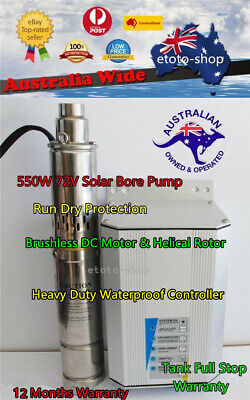 "4"" 550W 48V SUBMERSIBLE SOLAR BORE PUMP SYSTEM Auto Control"