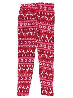 97f9622153893b Junior Womens Red Nordic Reindeer Fleece Lined Christmas Holiday Heart  Leggings
