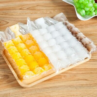 10 Disposable Frozen Juice Liquid Clear BBQ Sealed Pack Party Bar Ice Cube Bags