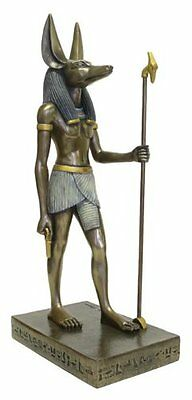 15.5 Inch Egyptian Anubis Sculpture Figurine Ancient Egypt God Statue  Pagan
