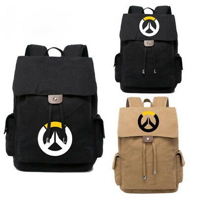 2bb852b2f21b Game Overwatch OW Backpack Canvas Casual Bag Travel Bag Shoulder Bag Bookbag