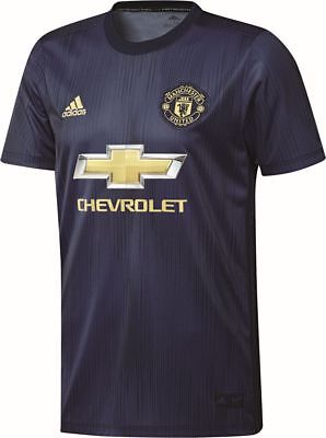 sports shoes ae2d0 8954c ADIDAS FOOTBALL MANCHESTER United FC MUFC Mens Third 3rd Jersey Shirt 2018  2019