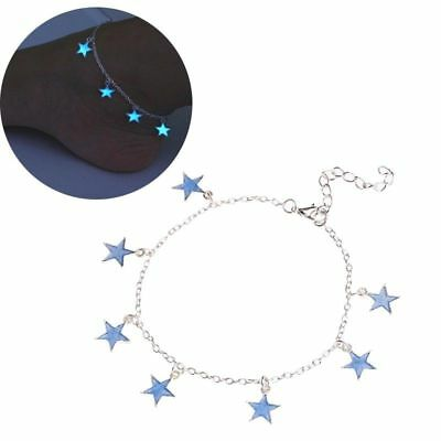 Luminous Glowing Barefoot Sandal Beach Ankle Bracelet Chain Anklet Foot Jewelry