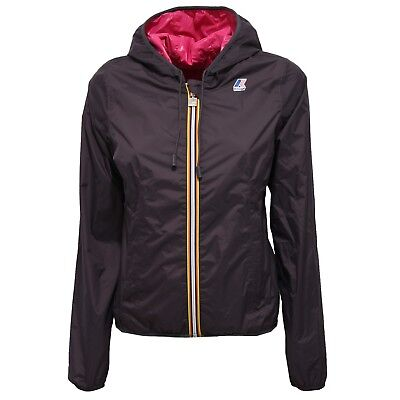 8909V giubbotto donna K-WAY LILY PLUS DOUBLE grey windproof jacket woman