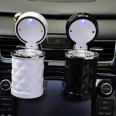 LED Ashtray For Car Home Or Office Smokeless With Blue Light & Smoke Diffuser US