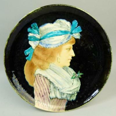 Theodore Deck French Art Pottery Portrait Plate C.1880