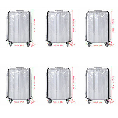 "PVC Transparent Waterproof Protective 20-30"" Luggage Suitcase Cover Case Travel"