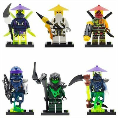 6 Sets MiniFigures Building Toys Phantom Ninjago Ninja Morro Ronin Blocks Toys