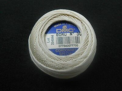 DMC Cordonnet Special Crochet Thread Size 30 Ecru 20g ball