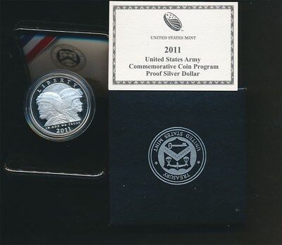 USA: 2001 $1 Army Silver Proof in Velvet Case and with Certificate, 38mm dia