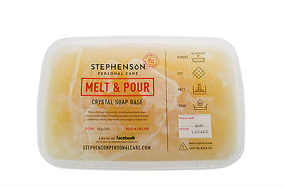 Organic Melt & Pour Soap Base 1kg-12kg Stephensons Cosmetic Making