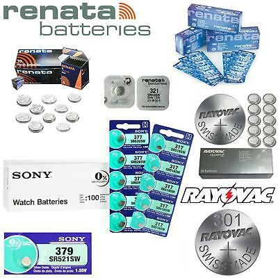 Genuine Rayovac Renata Sony Silver Oxide Watch Batteries All Sizes 0% Mercury