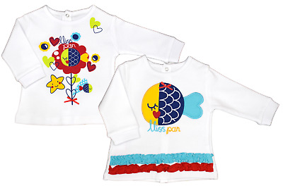 Baby Sweater 2Er Set Doppelpack Sweatshirt Oberteil Top Mädchen Shirt