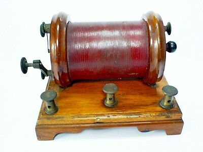 Rare Antique Victorian Mawson & Swan/newcastle Mahogany & Brass Induction Coil