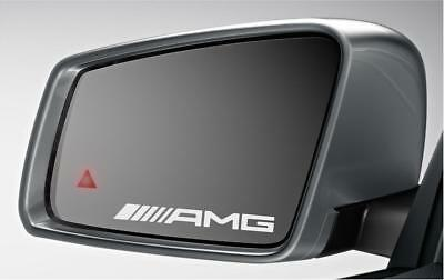 Mercedes AMG Mirror Decals Stickers Graphics X3 In Silver Etch